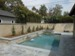 Classic rectangular pool and spa built in Monrovia ,Ca.