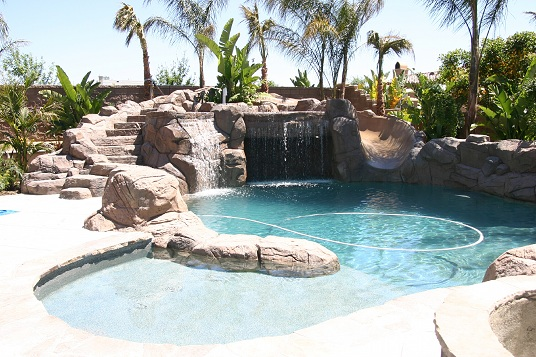 Backyard pool with slides Residential Pinterest 70 Best Pool Ideas Images Gardens Pools Pool Spa