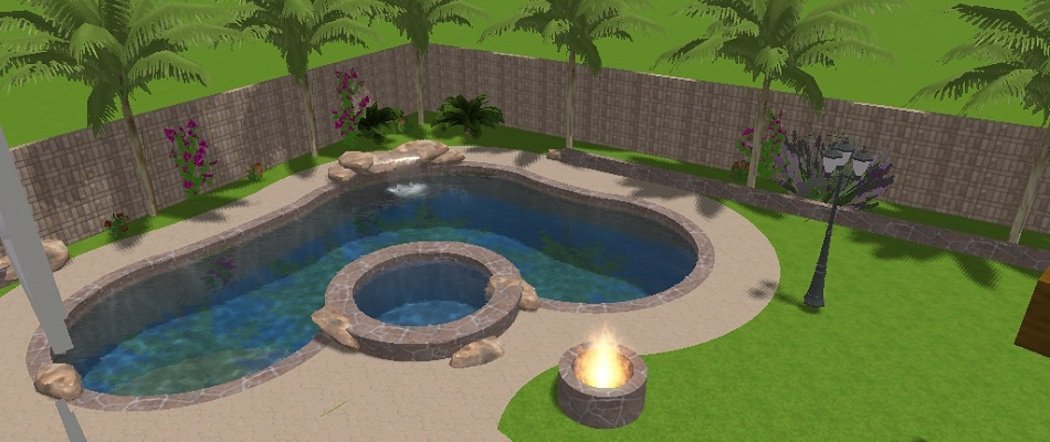 using 3d computer aided designs we can design your next swimming pool and landscaping project